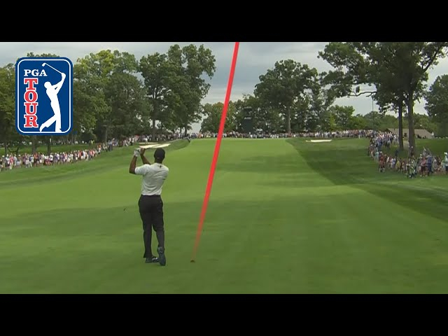 Tiger Woods' shot trails at BMW Championship 2019