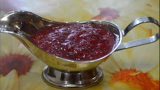 Острый соус из крыжовника - очень простой рецепт/gooseberry sauce