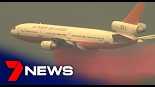 A Dc 10 Air Tanker 911 Drops Fire Retardant Near Colo Heights | 7news