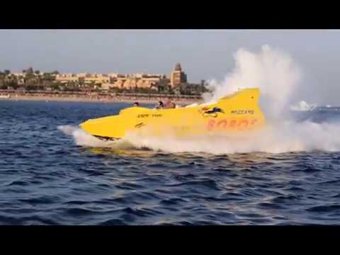 Fastest speed boat ever Bobos water sport Hurghada Egypt