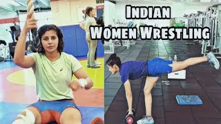 Indian Women Wrestlers Training