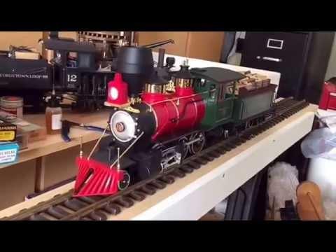 LGB test track Denver South Park & Pacific steam locomotive. eBay sale item test run