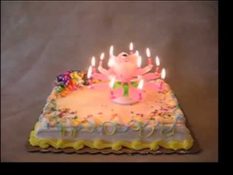 The Singing and Rotating Birthday Candle