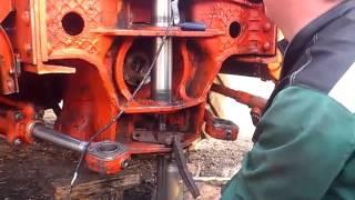 Ремонт вертикального шарнира трактора Т-150