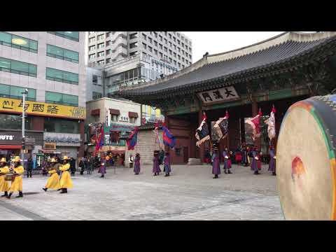 Changing the guard of Daehan gate, Korea - 대한문 수문 교대식 재현 2