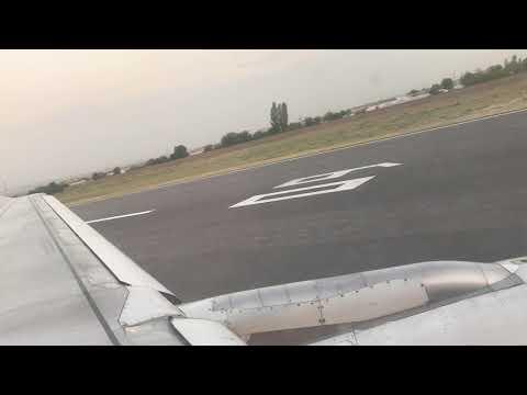 Вечернее руление и взлёт из аэропорта Звартноц 25.08.2017