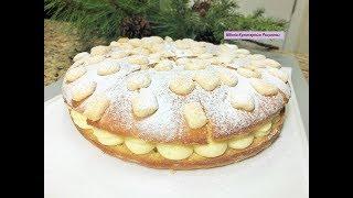 Торт СНЕЖНОСТЬ. Шикарный , Сказочный,  торт - пирог с кремом.