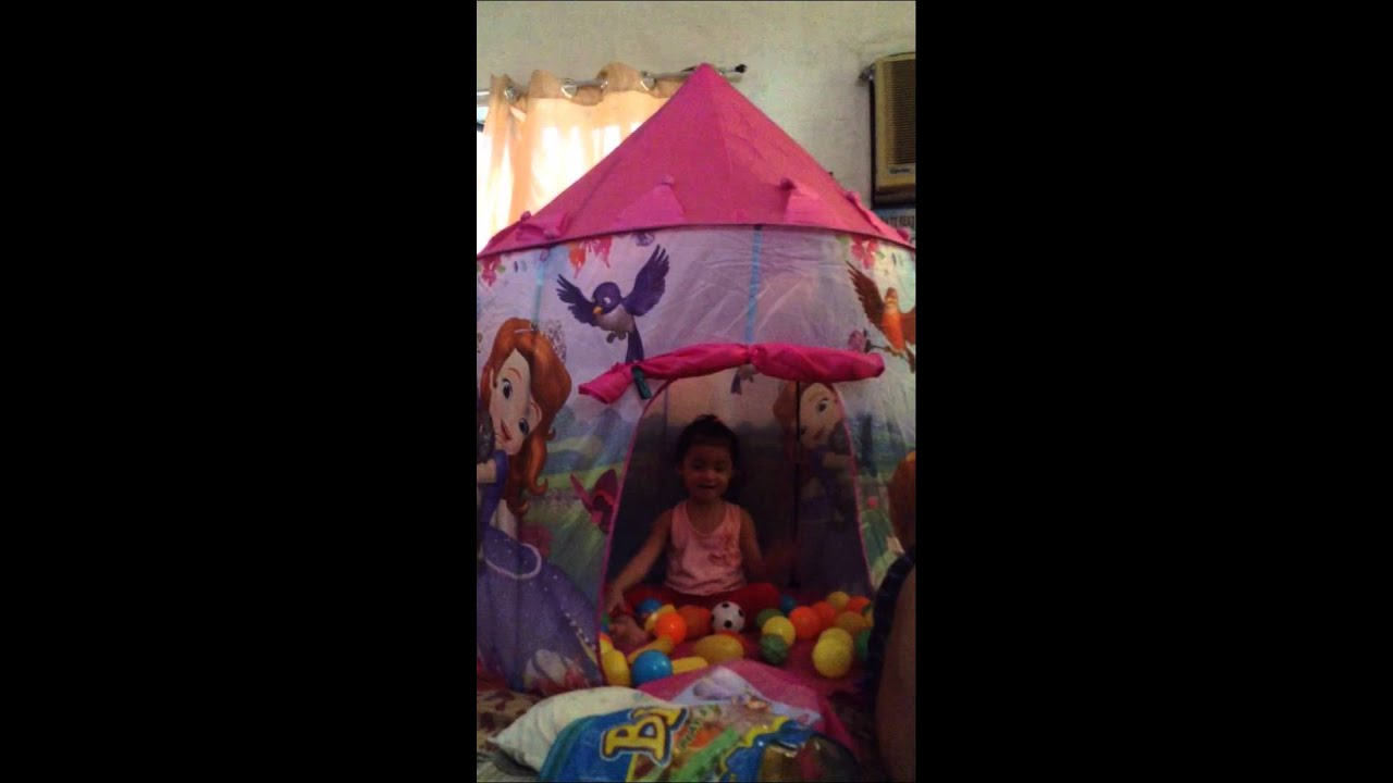 Sofia the First Castle tent  sc 1 st  YouTube & Sofia the First Castle tent - YouTube