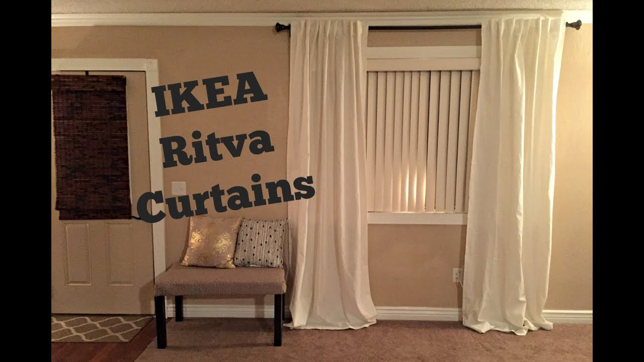 ikea ritva curtains review unpackaging youtube