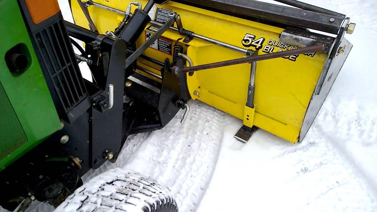 John Deere 54 Plow With Bucket Demonstrating Lock Youtube