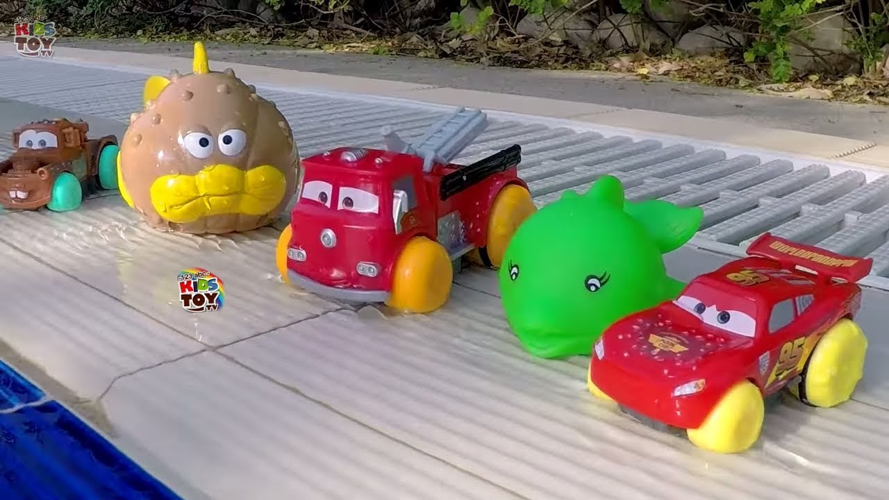 Water Toys Disney Pixar Cars Mcqueen Mater Red Hydro Wheels Fun