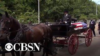 CBS News Special Report: John Lewis crosses Edmund Pettus Bridge for final time