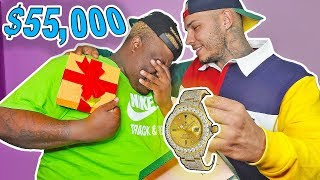 SURPRISING MY BROTHER WITH A $50,000 ROLEX WATCH! (BUYING HIS DREAM WATCH) **SUPER emotional**