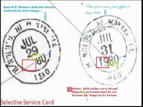 Barack Obama And Selective Service Card Facts And Results  Youtube