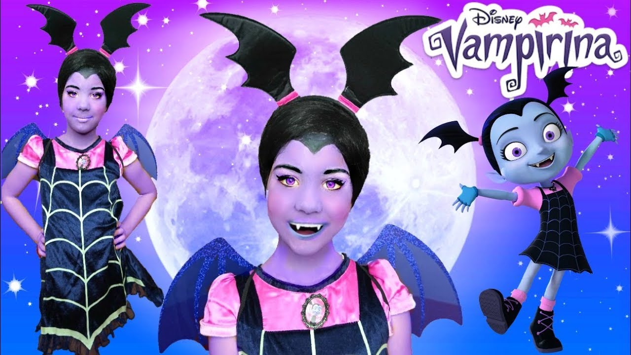 VAMPIRINA Halloween MAKEUP Tutorial and Costume DRESS UP - YouTube