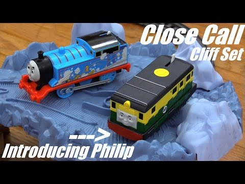 Thomas & Friends: All New Trackmaster Philip and Close Call Cliff Set Unboxing and Playtime