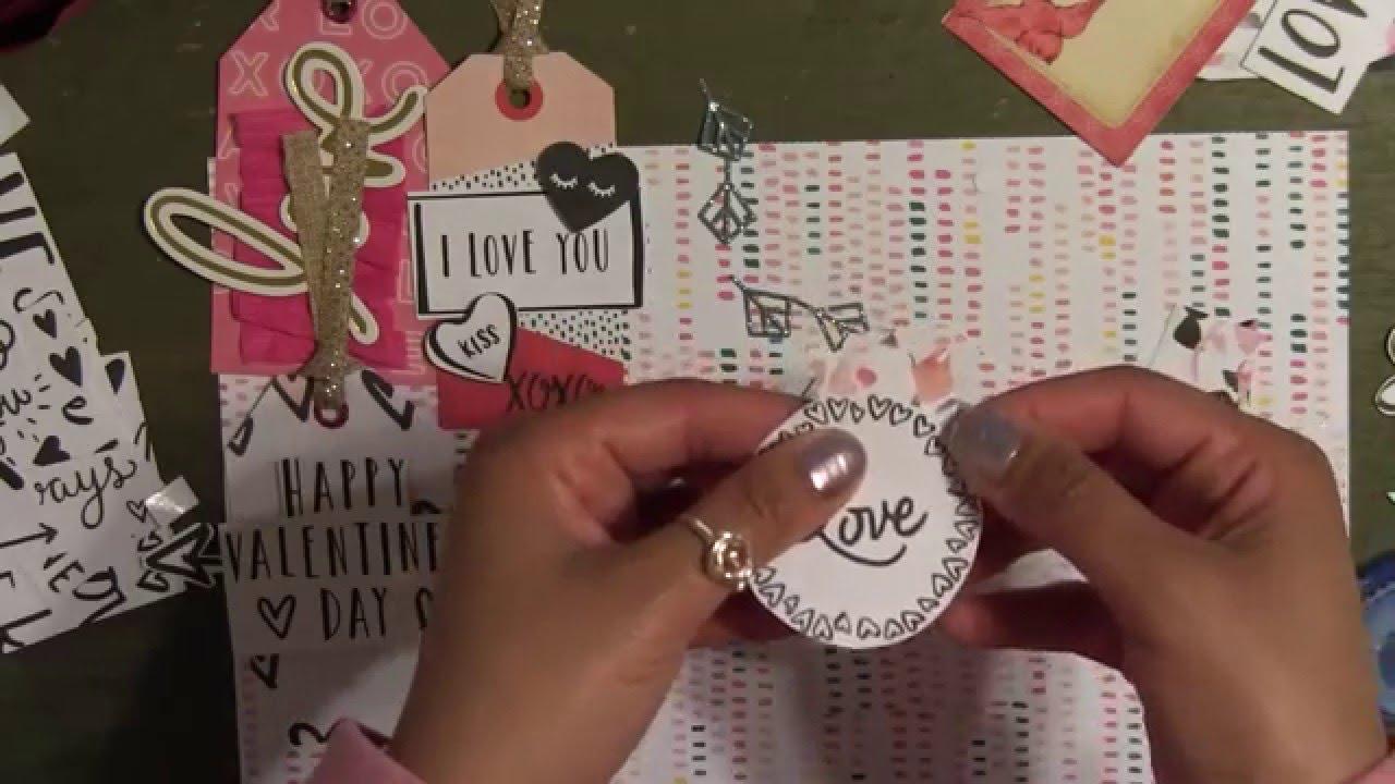 Diy Handmade Gift Tags Using Hello Love Paper Pad Valentine S