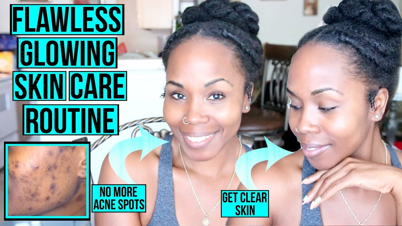 How to Get FLAWLESS GLOWING Skin FAST & NATURALLY  My Simple Skin Care  Routine