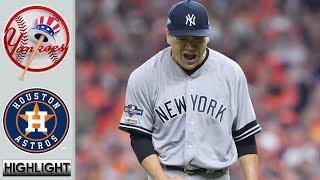 10月13日 田中将大 ヤンキース vs アストロズ - ハイライト & ホームラン   Astros vs Yankees ALCS 2019