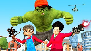 NickHulk vs Siren Head Giant - Scary Teacher 3D Nick Love Tani Animation
