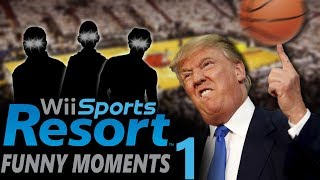 It's All WRONG! Wii Sports Resort Funny Moments - Basketball!! (Part 1)