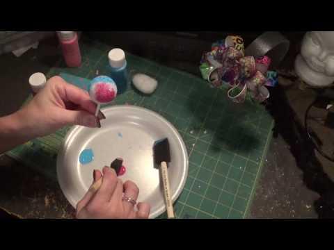DIY Snowball hair bow centerpiece, Part one
