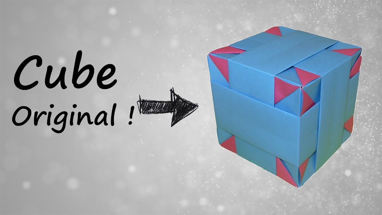 comment faire un cube décoratif en origami - youtube