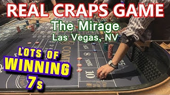 GOTTA LOVE FAST DEALERS! - Live Craps Game #28 - The Mirage, Las Vegas, NV - Inside the Casino