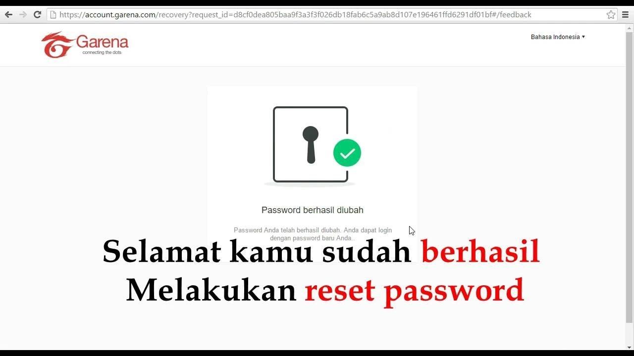 Cara Mereset Password Akun Pb Garena Youtube