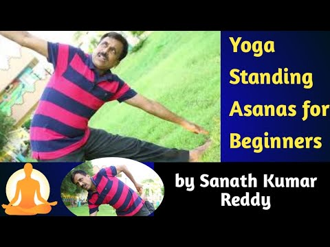yoga standing asanas for beginners  simple yoga exercises