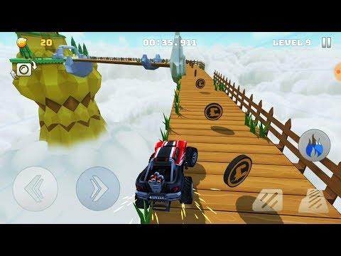 Mountain Climb Stunt - Новая игра про машинки. Необычные небесные гонки по сложным трассам.