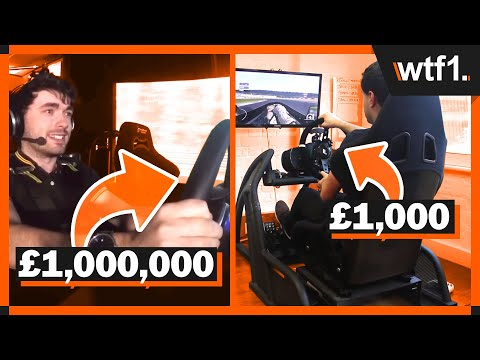 £1,000 vs £100,000 vs £1,000,000 Racing Simulators