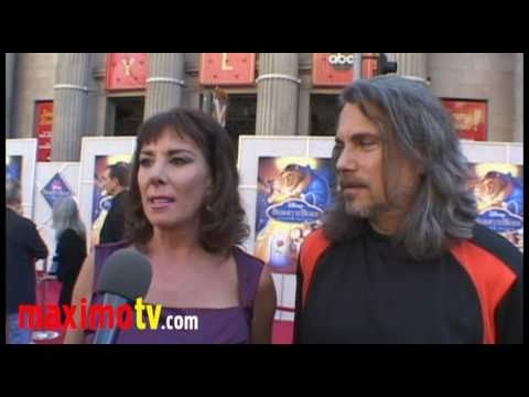 "Paige O'Hara (Belle), Robby Benson (Beast) Interview at ""Beauty And The Beast"" Premiere"