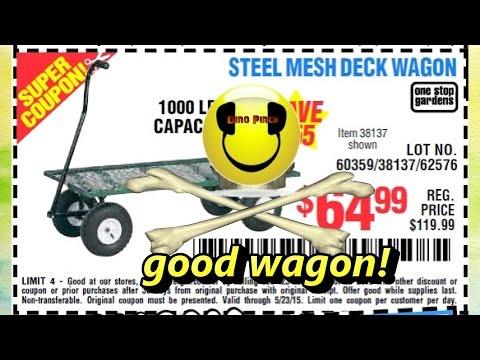 harbor freight steel mesh deck wagon # 38137