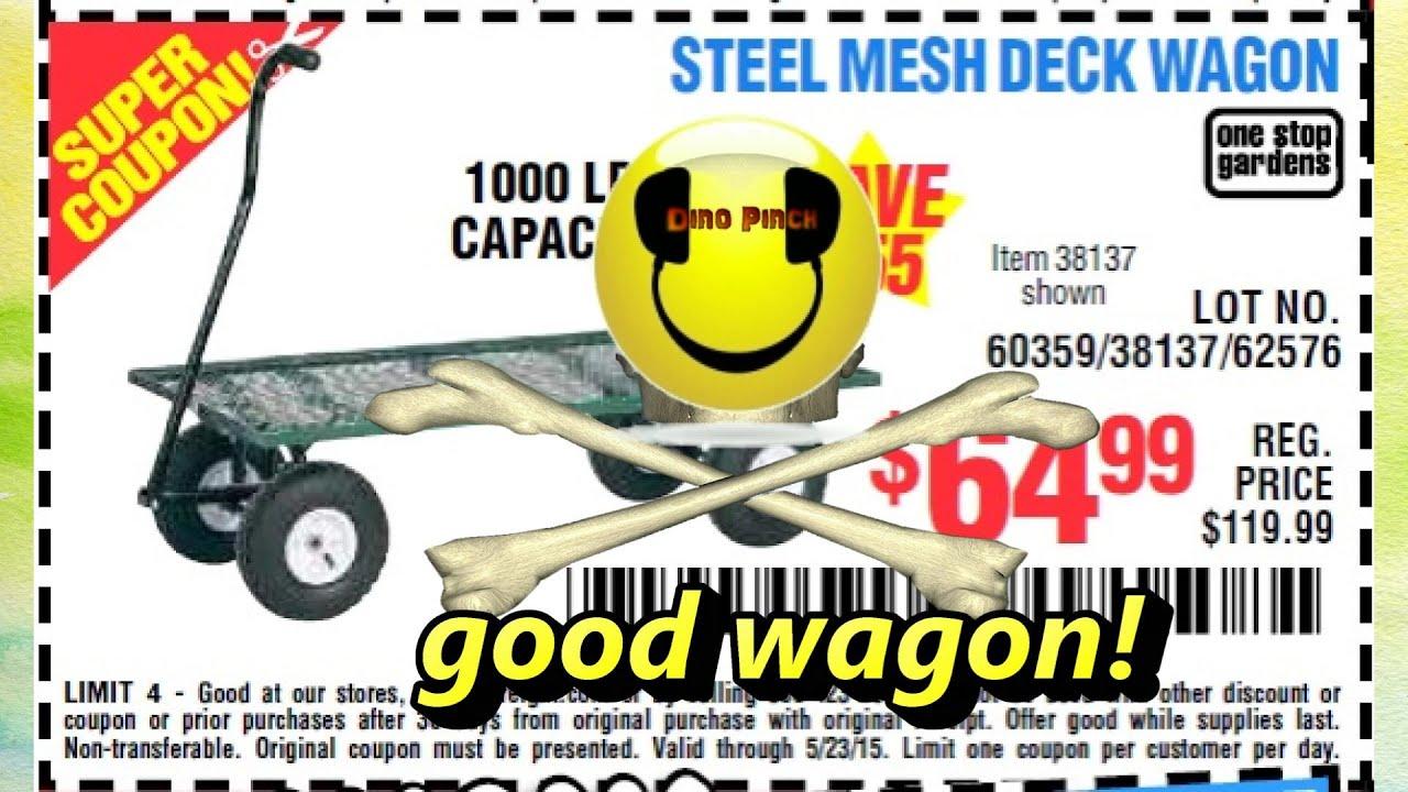 Harbor Freight Steel Mesh Deck Wagon 38137