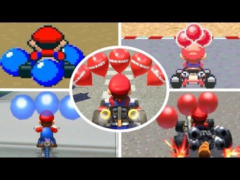 Evolution of Battle Courses in Mario Kart (1992-2017)