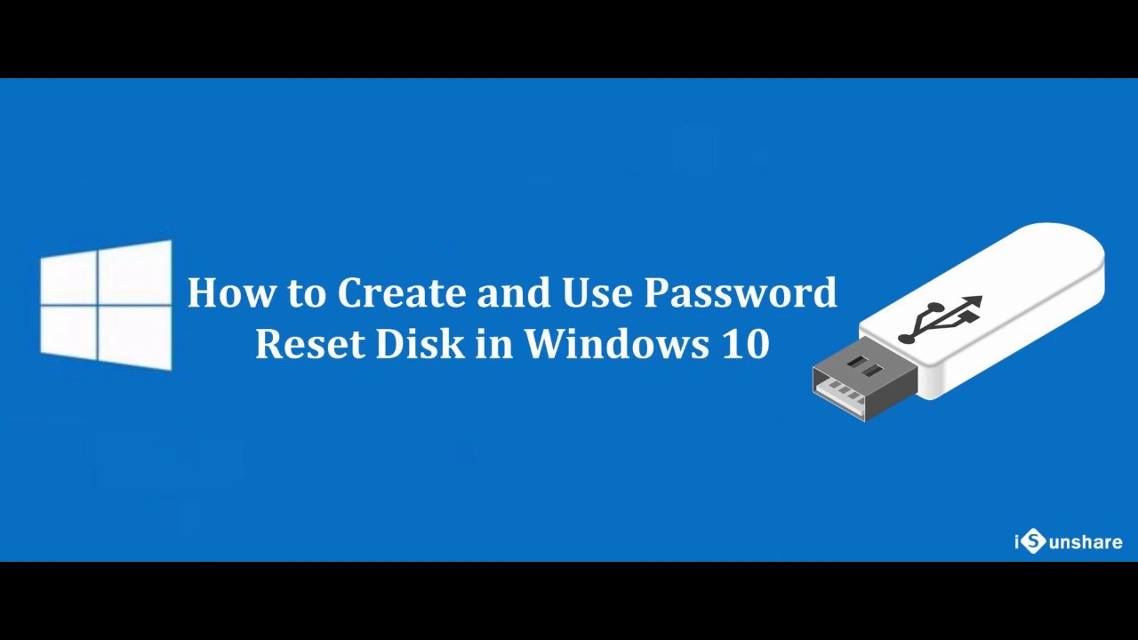 create a password recovery disk for windows 10