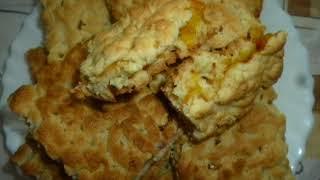 песочное печенье с вареньем и крошкой+ хворост простой рецепт