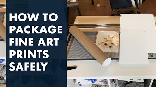 How to Package and Ship Fine Art Prints Cheaply and Safely - @easysundayclub - Cathy Zhang
