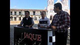 Concejal cejeño Nelsón Carmona, pasó por el set de JAQUE
