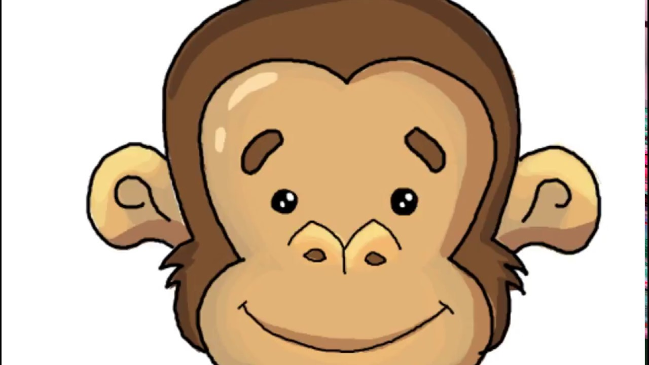 How To Draw A Monkey Face In Easy Drawing Tutorial Lesson For Kids