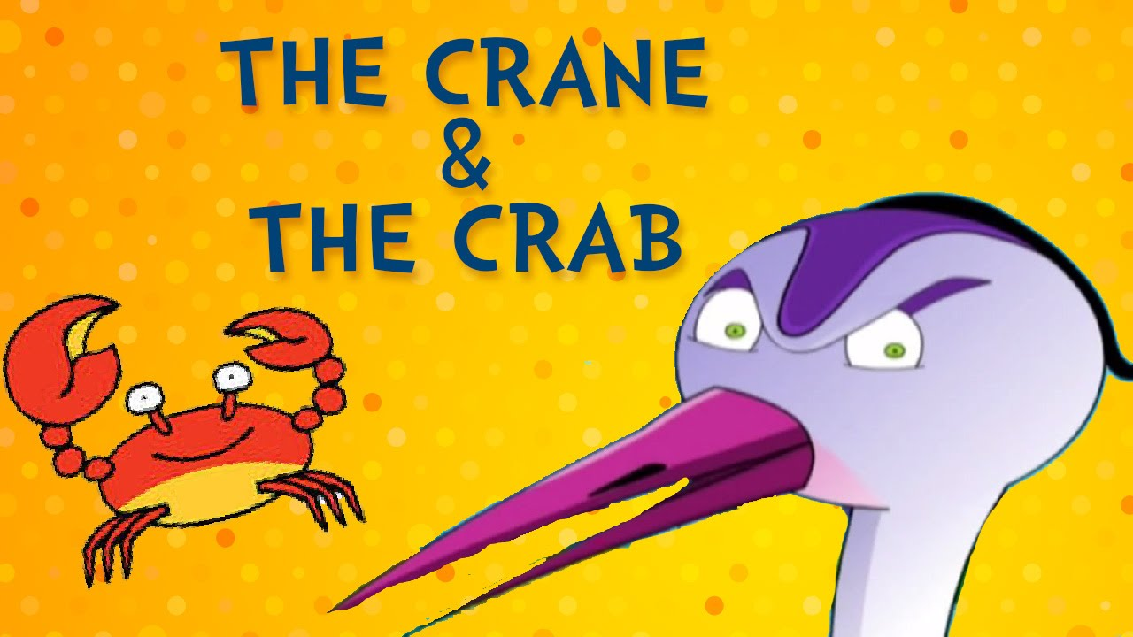 tales of panchatantra - crane and crab - short stories for kids - animated  cartoon stories