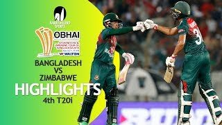 Highlights | Bangladesh vs Zimbabwe | 4th T20 | Bangladesh Tri-Series 2019