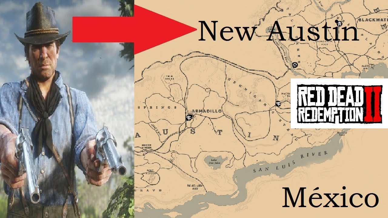 Red Dead Redemption 2 Arthur Morgan In New Austin Unlock Crossing The Map Youtube