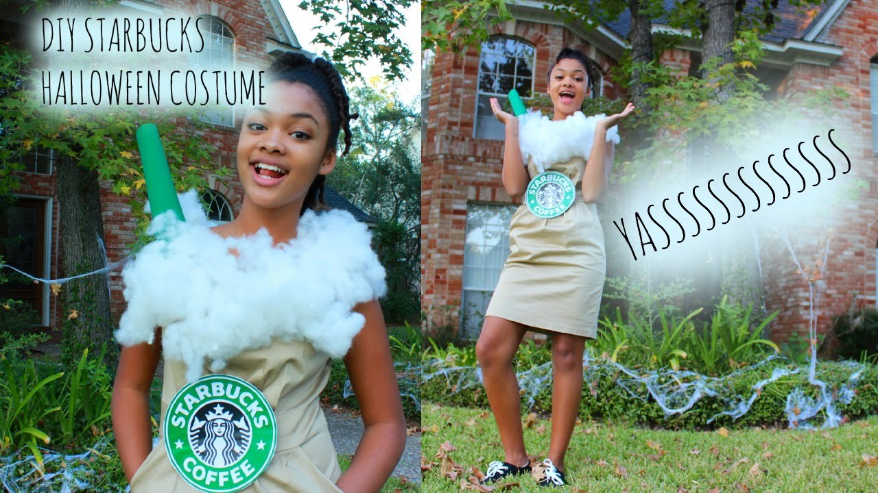 Diy Halloween Costume Starbucks Drink Nya Green
