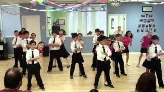 "Grade 5 dances ""No speak Americano"""