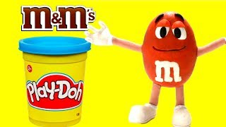 Making clay m&m's - Superhero Play Doh Cartoons & Stop Motion Movies for kids