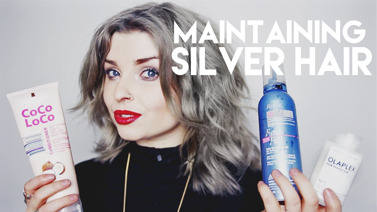 Maintaining Silver Grey Hair Colour Condition Youtube