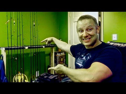 HOW TO Build a Fishing Rod Rack (DIY Rod Holder - Rod Stand)