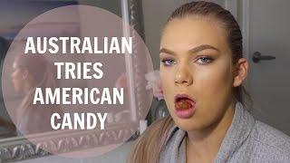 Australian Tries American Candy | Chloe Szep ♥